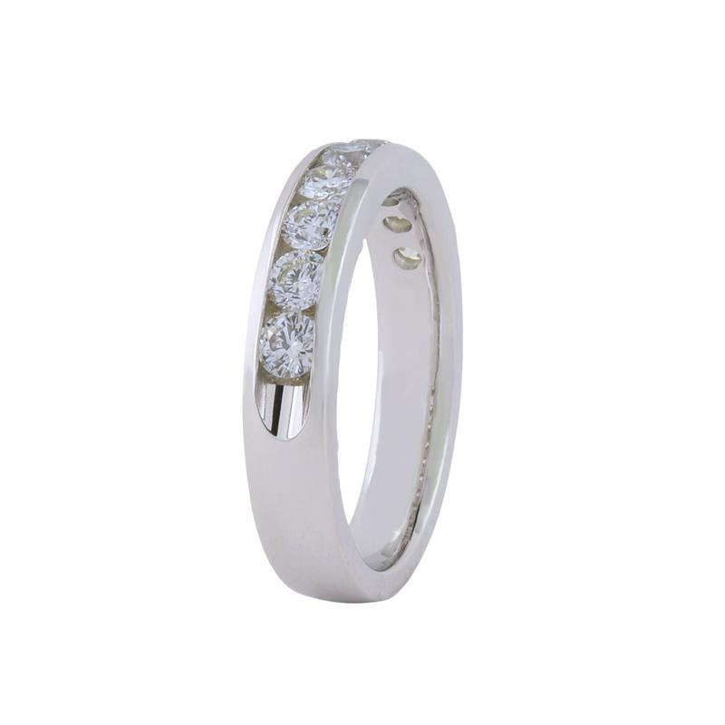 View 0.75ct Channel Set Wedding Ring