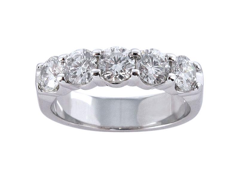 View 1.50ct Shared Prong Diamond Wedding Band