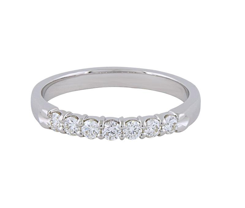 View 0.75ct Shared Prong Diamond Wedding Band