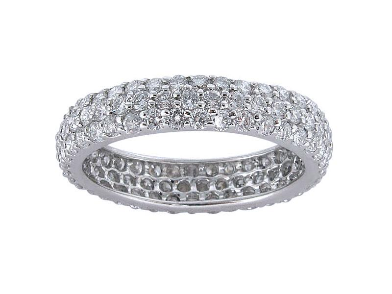 View 1.90ct Micro Pave Eternity Wedding Band