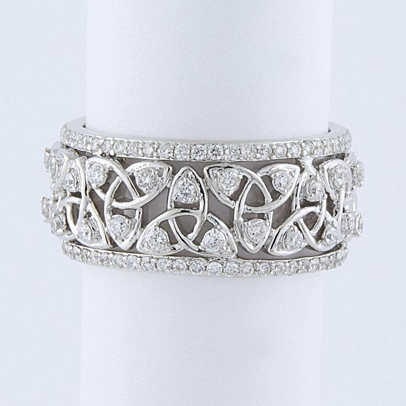 View 0.73ct Diamond Eternity Wedding Band
