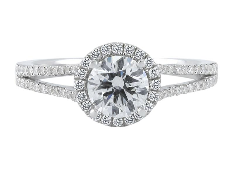 View Halo Diamond Engagement Ring