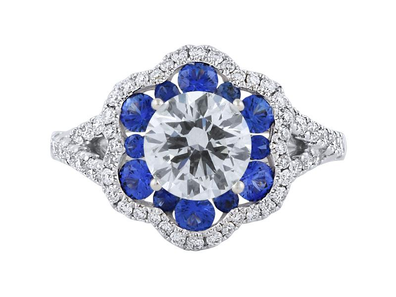 View Sapphire And Diamond Engagement Ring