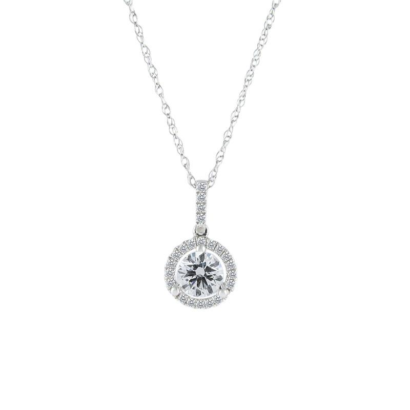 View Halo Diamond Pendant