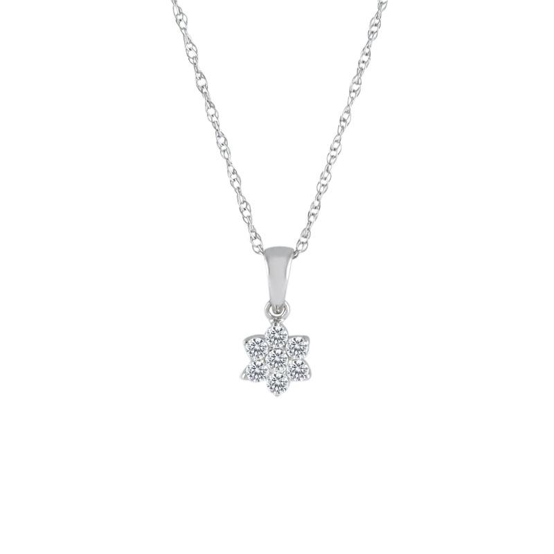 View Diamond Cluster Pendant