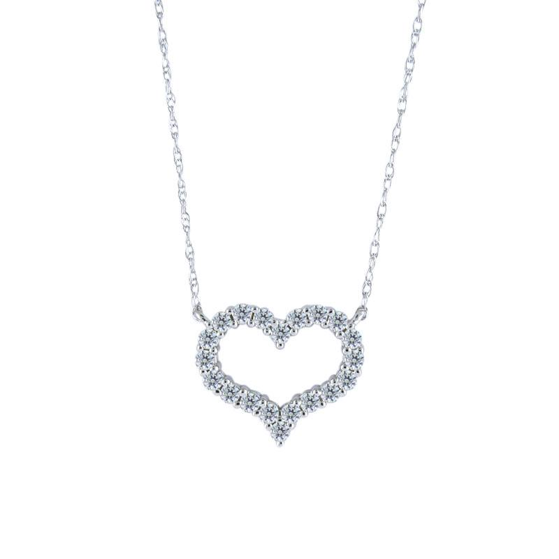 View Diamond Heart Shaped Pendant