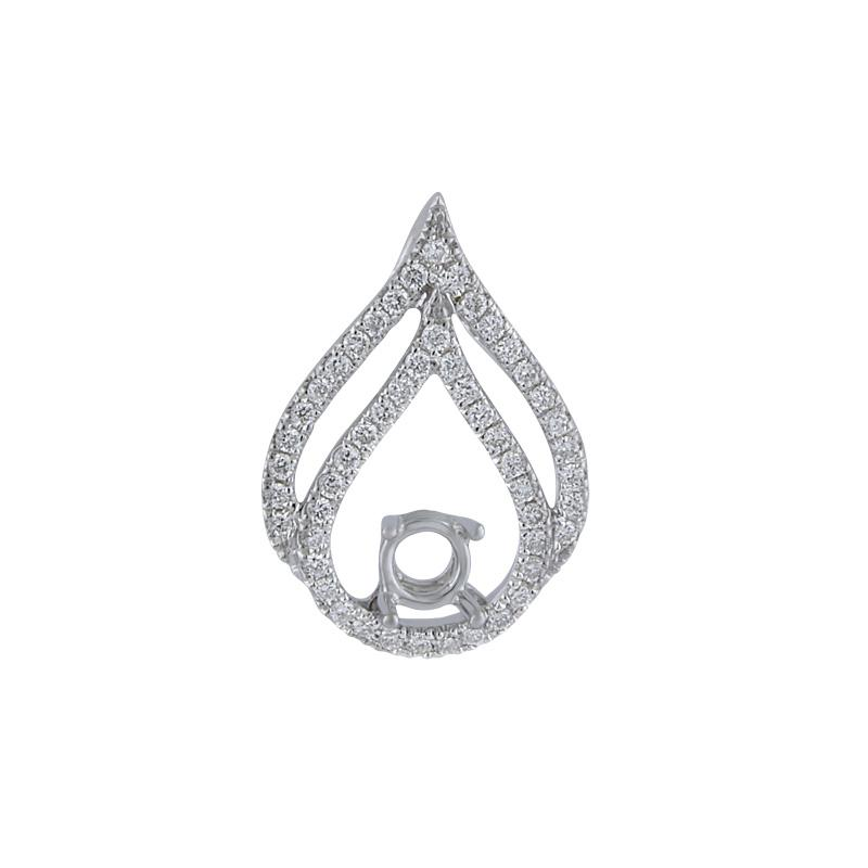 View 14kt Gold Diamond Pendant Mounting