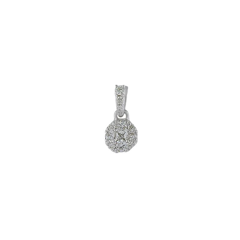 View 14kt White Gold Diamond Pendant